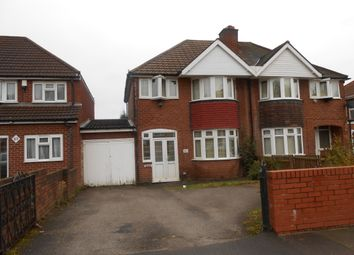 Thumbnail 3 bed semi-detached house to rent in Leopold Avenue, Handsworth Wood