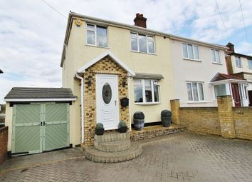 Thumbnail 3 bed semi-detached house for sale in Lawns Way, Collier Row, Romford
