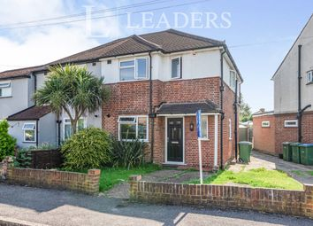 Thumbnail 3 bed semi-detached house to rent in Pembroke Avenue, Hersham, Walton-On-Thames