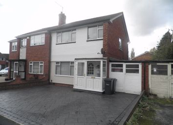 Thumbnail 3 bedroom semi-detached house to rent in Kelverley Grove, West Bromwich, West Midlands
