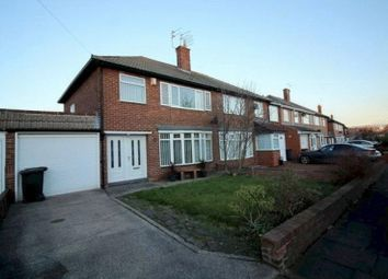 Thumbnail 3 bedroom semi-detached house to rent in Regent Farm Road, Gosforth, Newcastle Upon Tyne