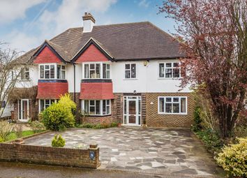 Thumbnail 5 bed semi-detached house for sale in Fairway, Carshalton
