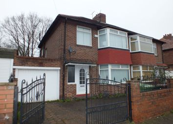 Thumbnail 3 bed semi-detached house for sale in Cedar Road, Fenham, Newcastle Upon Tyne