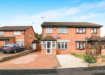 Thumbnail 3 bed semi-detached house for sale in Leygreen Close, Luton