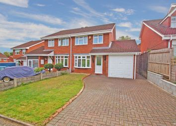 Thumbnail 3 bed semi-detached house for sale in Rosehall Close, Redditch