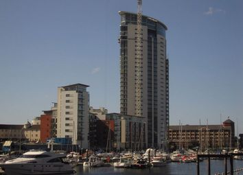 Thumbnail 2 bed flat to rent in Meridian Tower, Maritime Quarter, Swansea