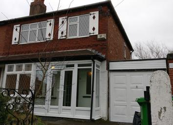 Thumbnail 3 bed semi-detached house to rent in Lambton Road, Chorlton, Manchester