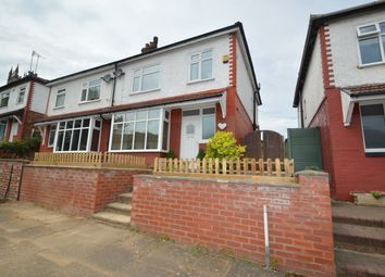Thumbnail 3 bed semi-detached house to rent in Grosvenor Avenue, Whitefield, Manchester