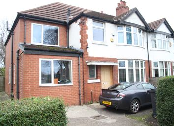 Thumbnail 7 bed semi-detached house to rent in Heyscroft Road, Withington, Manchester