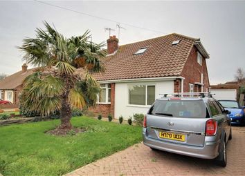 Thumbnail 2 bed semi-detached bungalow for sale in Sackville Crescent, Broadwater, West Sussex