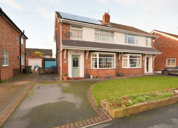 Thumbnail 3 bed semi-detached house for sale in Musbury Avenue, Cheadle Hulme, Stockport