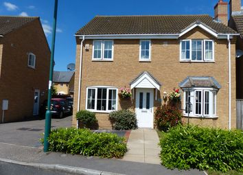 Thumbnail 4 bed detached house for sale in Blackswan Crescent, Peterborough