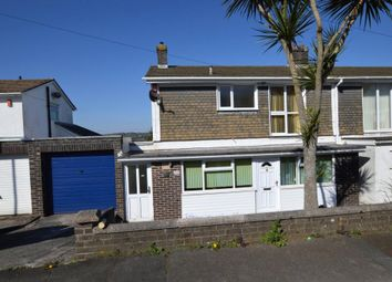 Thumbnail 3 bed semi-detached house for sale in Dunstone View, Plymouth, Devon
