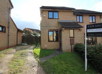 Thumbnail 2 bedroom semi-detached house for sale in Gisburn Close, Heelands, Milton Keynes, Buckinghamshire