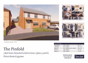 Thumbnail 3 bed semi-detached house for sale in The Heavens - Hardy Way, East Leake, Leicestershire