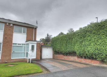 Thumbnail 2 bed semi-detached house for sale in Burnham Avenue, West Denton Park, Newcastle Upon Tyne
