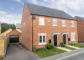 Thumbnail 3 bedroom semi-detached house to rent in Prince George Drive, Oundle, Peterborough