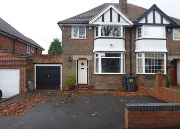 Thumbnail 3 bedroom semi-detached house for sale in Wychall Road, Northfield, Birmingham