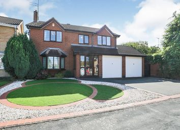 Thumbnail 4 bed detached house for sale in Bowmans Way, Glenfield, Leicester