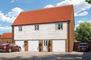 Thumbnail 2 bed flat for sale in Ashe Road, Tunstall, Woodbridge