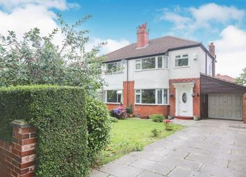 Thumbnail 3 bed semi-detached house for sale in Hillcrest Road, Offerton, Stockport, Cheshire