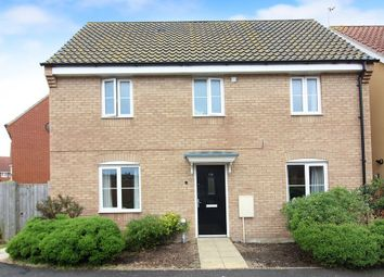 Thumbnail 3 bed detached house for sale in Charlock Close, Caister-On-Sea, Great Yarmouth