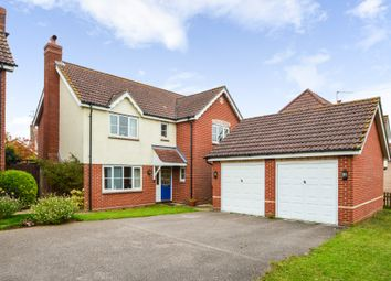 Thumbnail 4 bed detached house for sale in Mill Road, Kedington, Suffolk