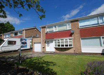 Thumbnail 3 bed semi-detached house for sale in Priory Place, Wideopen, Newcastle Upon Tyne