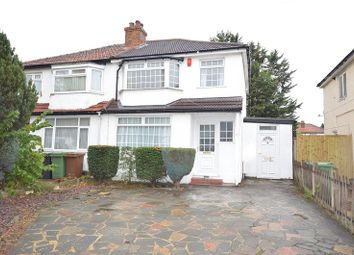 Thumbnail 3 bed semi-detached house to rent in Limecroft Close, West Ewell, Surrey