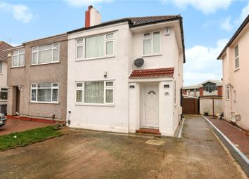 Thumbnail 3 bed semi-detached house for sale in Chapman Crescent, Harrow, Middlesex