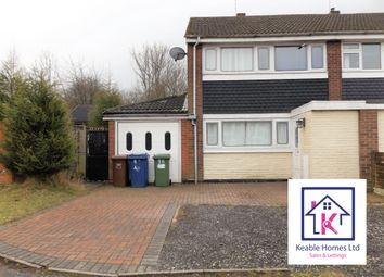 Thumbnail 3 bed semi-detached house to rent in Sharon Way, Hednesford, Cannock