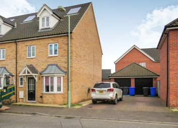 Thumbnail 4 bedroom end terrace house for sale in Sycamore Drive, Beck Row, Bury St. Edmunds