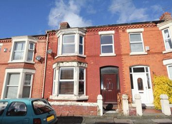 Thumbnail 4 bed terraced house for sale in Brabant Road, Aigburth Vale, Liverpool