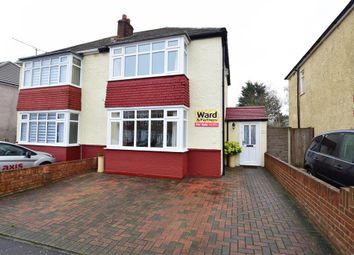 Thumbnail 2 bed semi-detached house for sale in Haig Avenue, Rochester, Kent