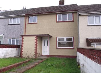 Thumbnail 3 bed terraced house to rent in Queensway, Garnlydan, Ebbw Vale
