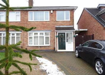Thumbnail 3 bedroom semi-detached house for sale in Bearsdon Crescent, Hinckley