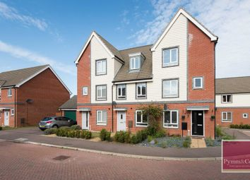 Thumbnail 3 bed town house for sale in Waxwing Way, Queens Hill, Norwich