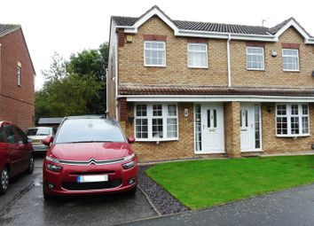 Thumbnail 3 bed semi-detached house for sale in Lingfield Close, Saxilby, Lincoln