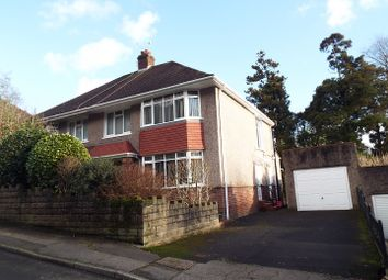 Thumbnail 3 bed semi-detached house for sale in 14 Ffynone Drive, Uplands, Swansea