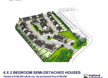 Thumbnail 3 bed semi-detached house for sale in Kinellan Drive, Strathpeffer