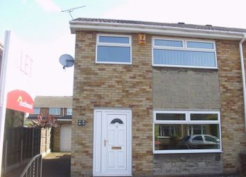 Thumbnail 3 bed semi-detached house to rent in Plover Court, Rossington, Doncaster
