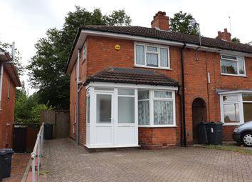 Thumbnail 3 bed end terrace house for sale in Norrington Road, Birmingham
