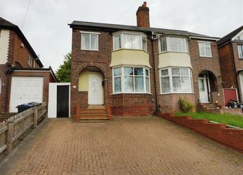 Thumbnail 3 bed semi-detached house to rent in Cole Valley Road, Birmingham