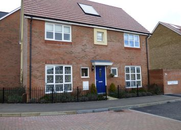 Thumbnail 4 bed link-detached house to rent in Gwendoline Buck Drive, Aylesbury