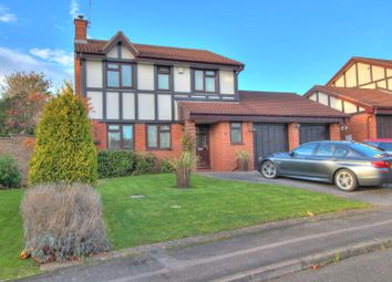 Thumbnail 4 bed detached house for sale in Hampstead Close, Narborough, Leicester