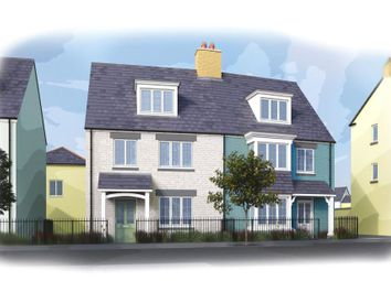 Thumbnail 3 bed semi-detached house for sale in Stret Uther Penndragon, Quintrell Road, Newquay, Cornwall