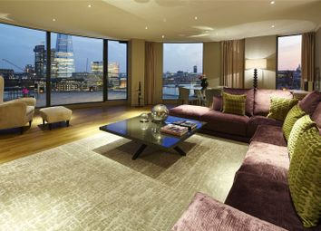 Thumbnail 3 bed flat to rent in Three Quays Apartments, 40 Lower Thames Street, London