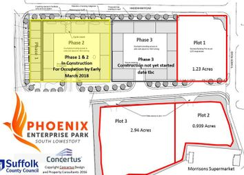 Thumbnail Land for sale in 3 Plots Of Land, Phoenix Enterprise Park, Lowestoft Industrial Estate