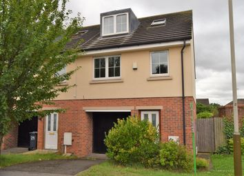 Thumbnail 3 bedroom town house for sale in Woodleigh Close, Leicester