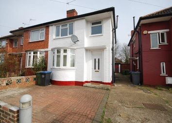 Thumbnail 4 bed semi-detached house to rent in Brentvale Avenue, Wembley, Middlesex
